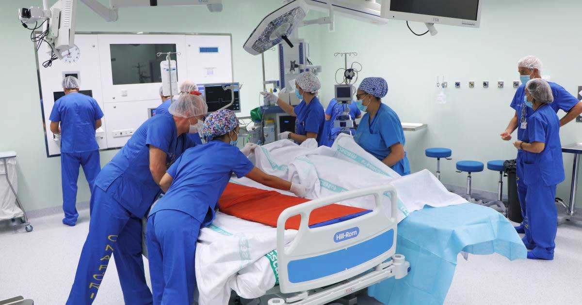Beneficios del posicionamiento del paciente en la sala de cirugía