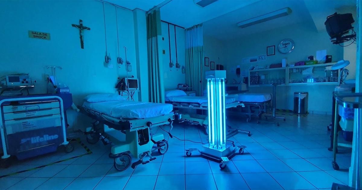 Eficacia de la luz ultravioleta en la desinfección hospitalaria